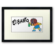 Fly Bart - El Barto Framed Print
