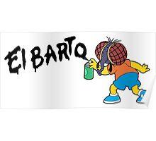Fly Bart - El Barto Poster