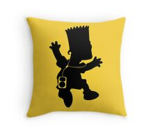 The Simpson - Bart Music Throw Pillow