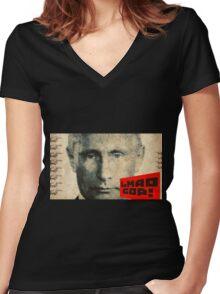 GOP, I feel your humor. Women's Fitted V-Neck T-Shirt