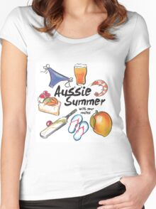Aussie Summer with your mates Women's Fitted Scoop T-Shirt