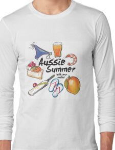Aussie Summer with your mates Long Sleeve T-Shirt