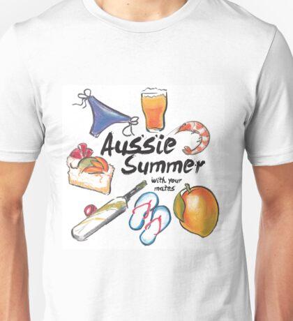 Aussie Summer with your mates Unisex T-Shirt