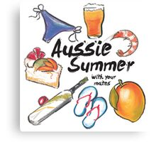 Aussie Summer with your mates Canvas Print