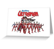 Ultraman Family All Star Version 1 Greeting Card