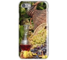 vineyard red and white wine  iPhone Case/Skin