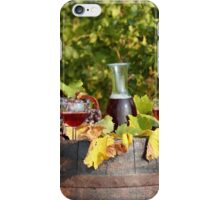 vineyard red wine  iPhone Case/Skin