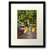 vineyard red wine  Framed Print