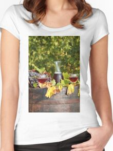 vineyard red wine  Women's Fitted Scoop T-Shirt