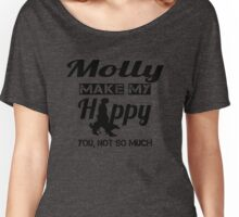 Dogs make me happy Women's Relaxed Fit T-Shirt