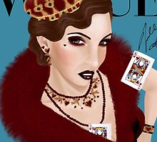 Flapper Queen of Hearts ( blue version) by fairyl