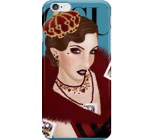 Flapper Queen of Hearts ( blue version) iPhone Case/Skin