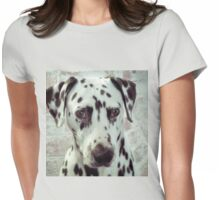 Hello Spotty Dog Womens Fitted T-Shirt