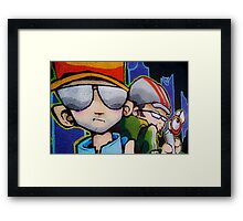 Street art by Cheo Framed Print