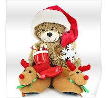 teddy-bear Santa Claus Poster