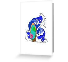 Surf Wave Greeting Card