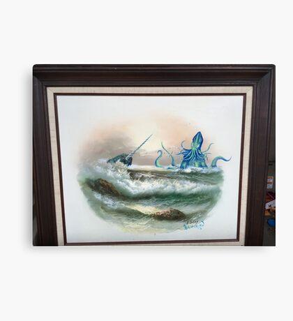Narwhal vs the Chuthulu Kraken Canvas Print
