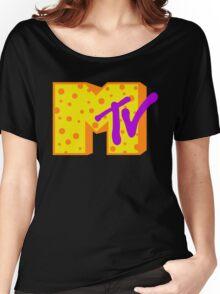 MTV Cheese Logo Women's Relaxed Fit T-Shirt