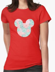 Mouse Ears - Bursting Blossoms Womens Fitted T-Shirt