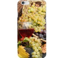 grape and wine  iPhone Case/Skin