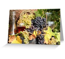 grape and wine  Greeting Card