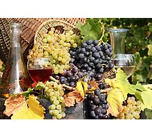 grape and wine  Photographic Print