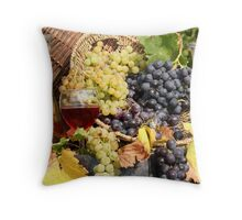 grape and wine  Throw Pillow