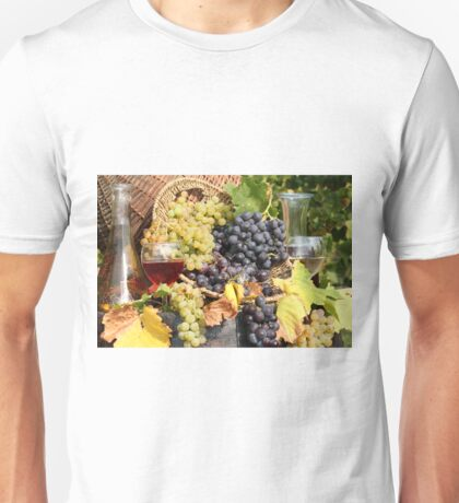 grape and wine  Unisex T-Shirt