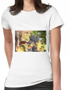 grape and wine  Womens Fitted T-Shirt