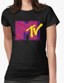 MTV Logo Womens Fitted T-Shirt