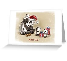 Panda Claus Greeting Card