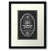 Vault Tec Premium Vaults Framed Print