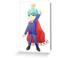 King Min Yoongi Greeting Card