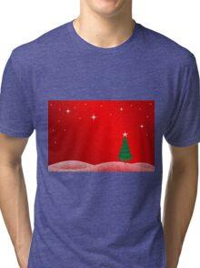 Christmas Landscape Tri-blend T-Shirt