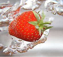 Strawberry drops by FlatWhiteImages