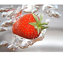 Strawberry drops Photographic Print