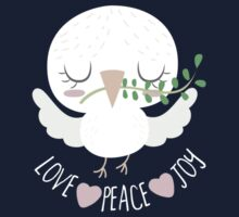 LOVE PEACE AND JOY Kids Tee