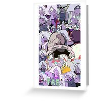 amethyst collage Greeting Card
