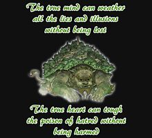 The True Mind..... - Lion Turtle Quote Unisex T-Shirt