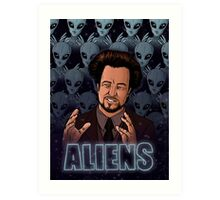 The Aliens Guy (Giorgio Tsoukalos) Color Art Print