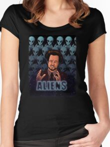 The Aliens Guy (Giorgio Tsoukalos) Color Women's Fitted Scoop T-Shirt