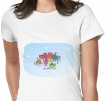Alien invasion Womens Fitted T-Shirt