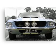Full Frontal - Blue Mustang Canvas Print
