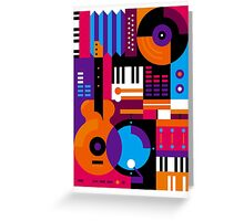 Music Mosaic Greeting Card