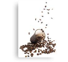 Spilt coffee Canvas Print