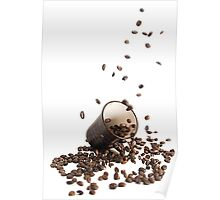 Spilt coffee Poster