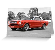 Red Mustang Greeting Card