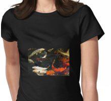 Serenity koi fish 1 Womens Fitted T-Shirt