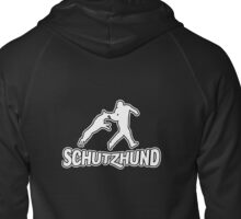 Schutzhund bite the helper Zipped Hoodie
