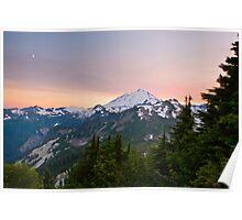 Sunset at Mount Baker Poster